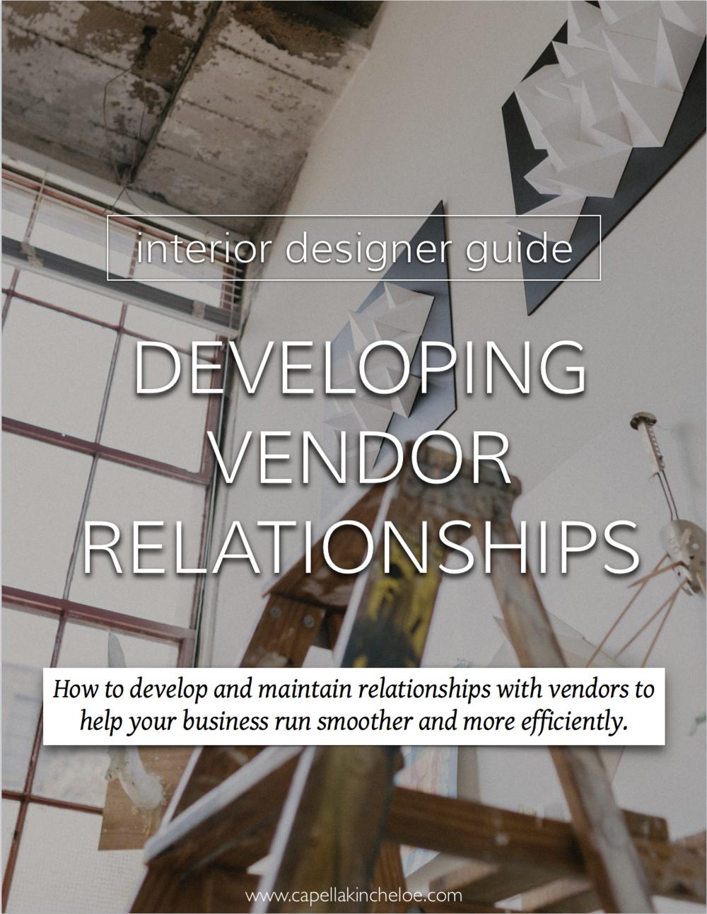 Wondering how you find and create great vendors? Read this. #interiordesignbusiness #cktradesecrets #interiordesigner #vendors