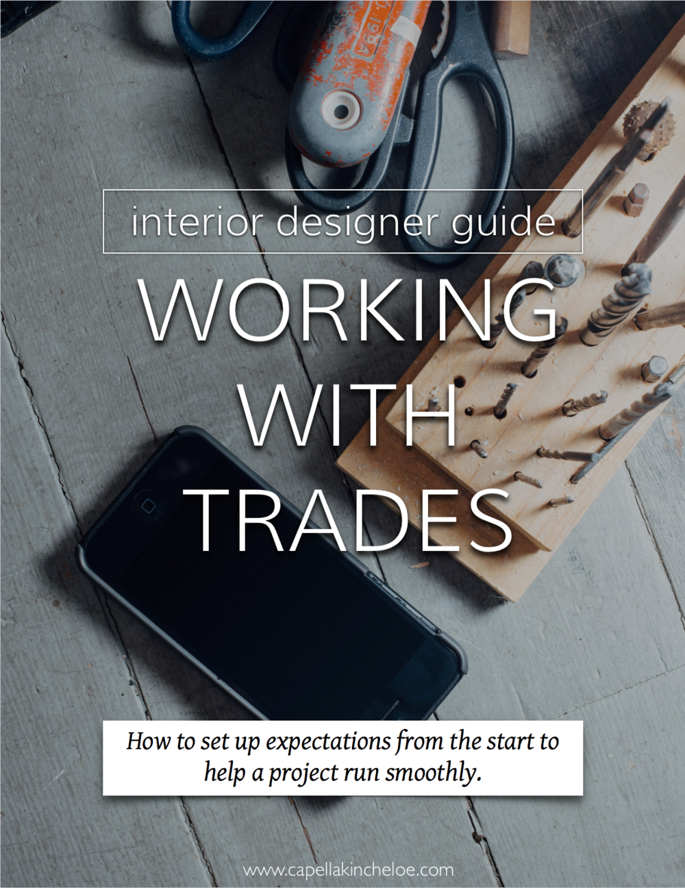 Need help managing trades on your interior design project? Read this. #interiordesignbusiness #cktradesecrets #workingwithtrades