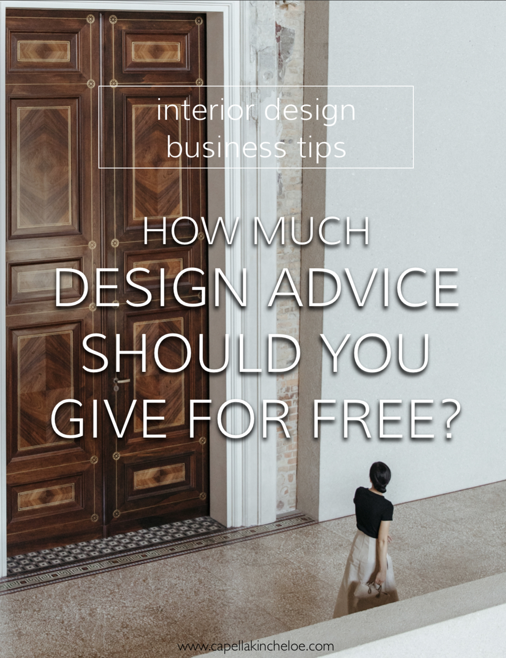 How much free interior design advice should you give to new clients before you're giving too much away? #interiordesignconsultation #interiordesignbusiness #interiordesignceo #capellakincheloe #cktradesecrets