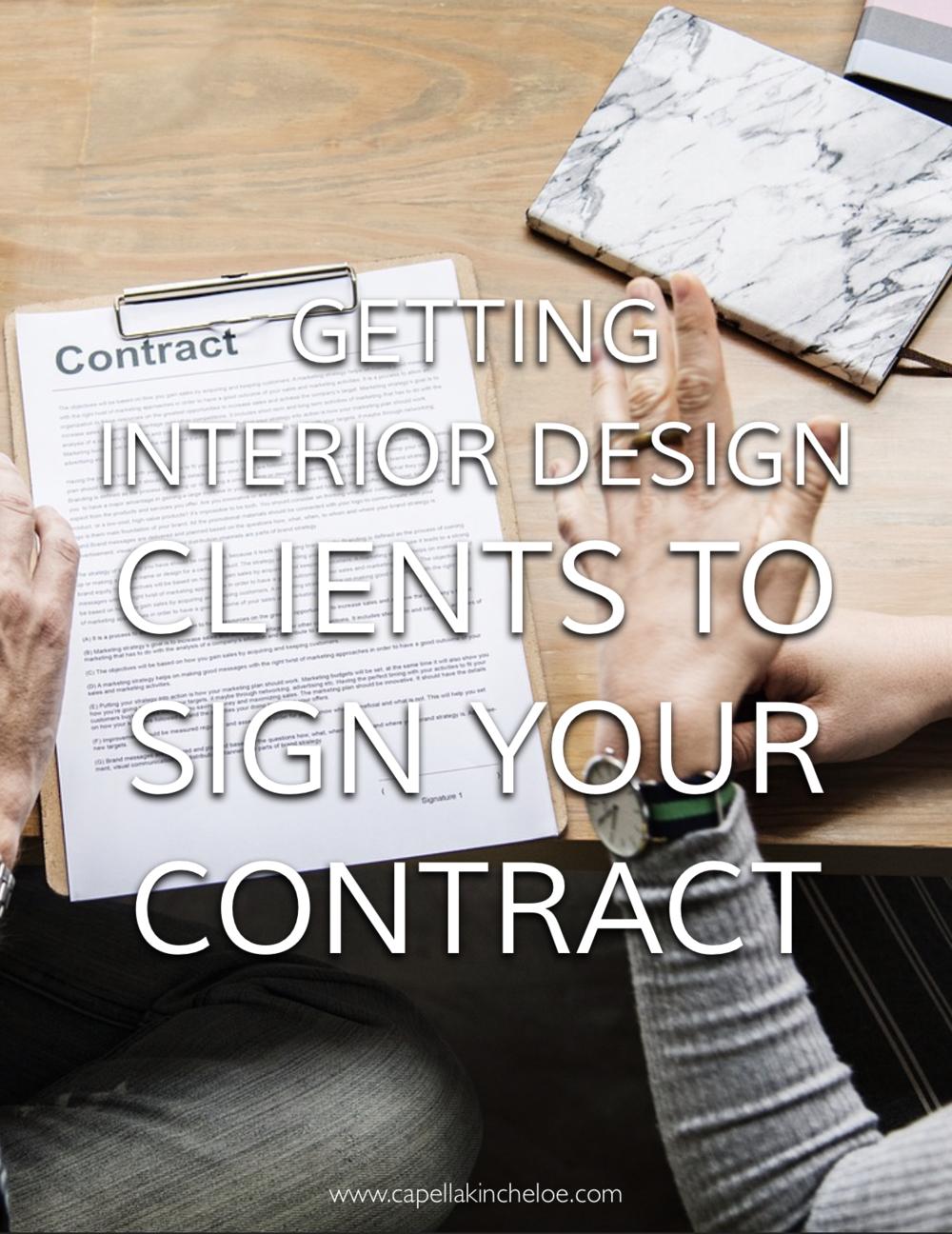 Getting interior design clients to sign your contract. #interiordesignbusiness #cktradesecrets #interiordesigncontract #interiordesignclients
