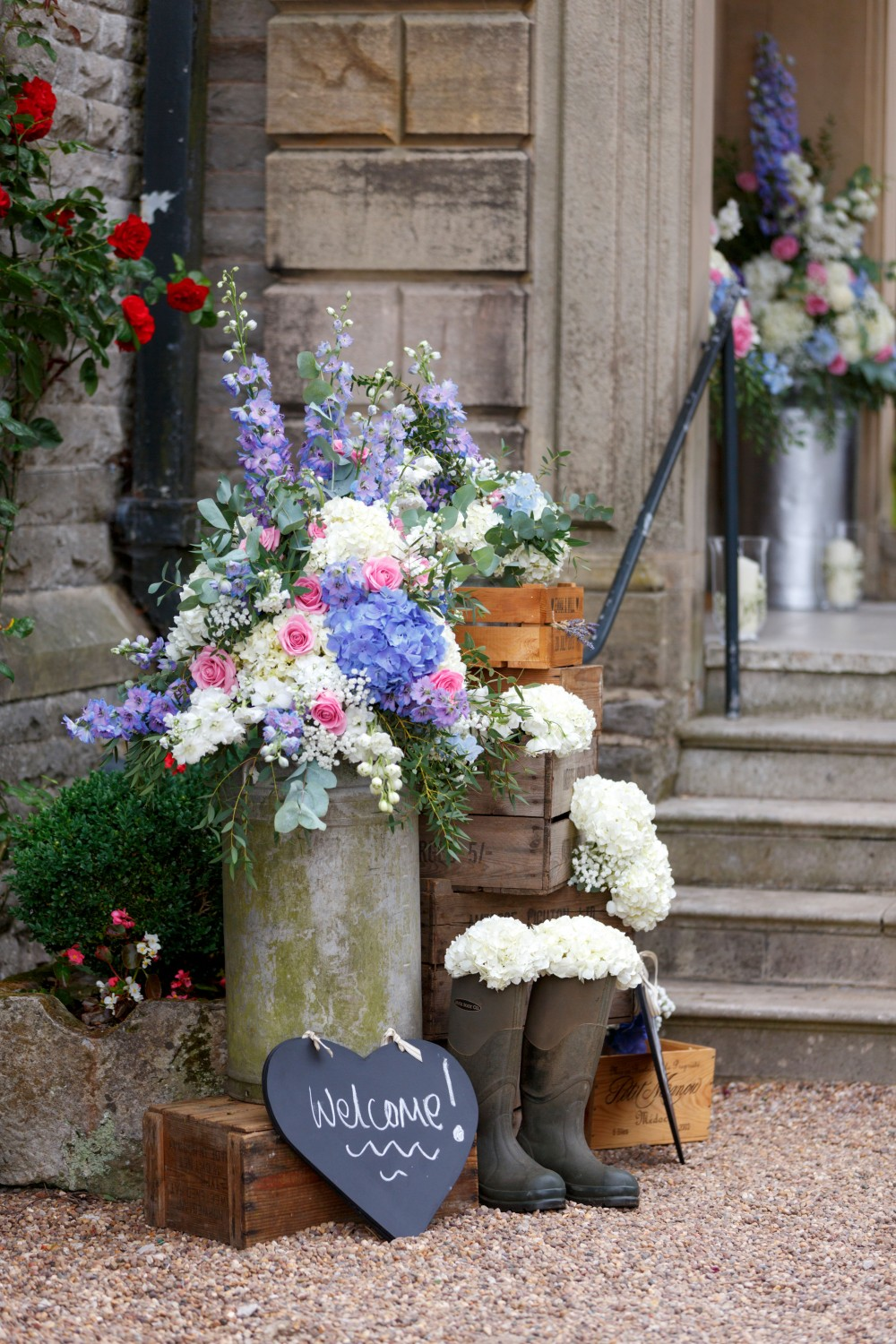 We Were Delighted To Provide The Wedding Flowers At Callow Hall Derbyshire For Summer Of Emma And Will In July