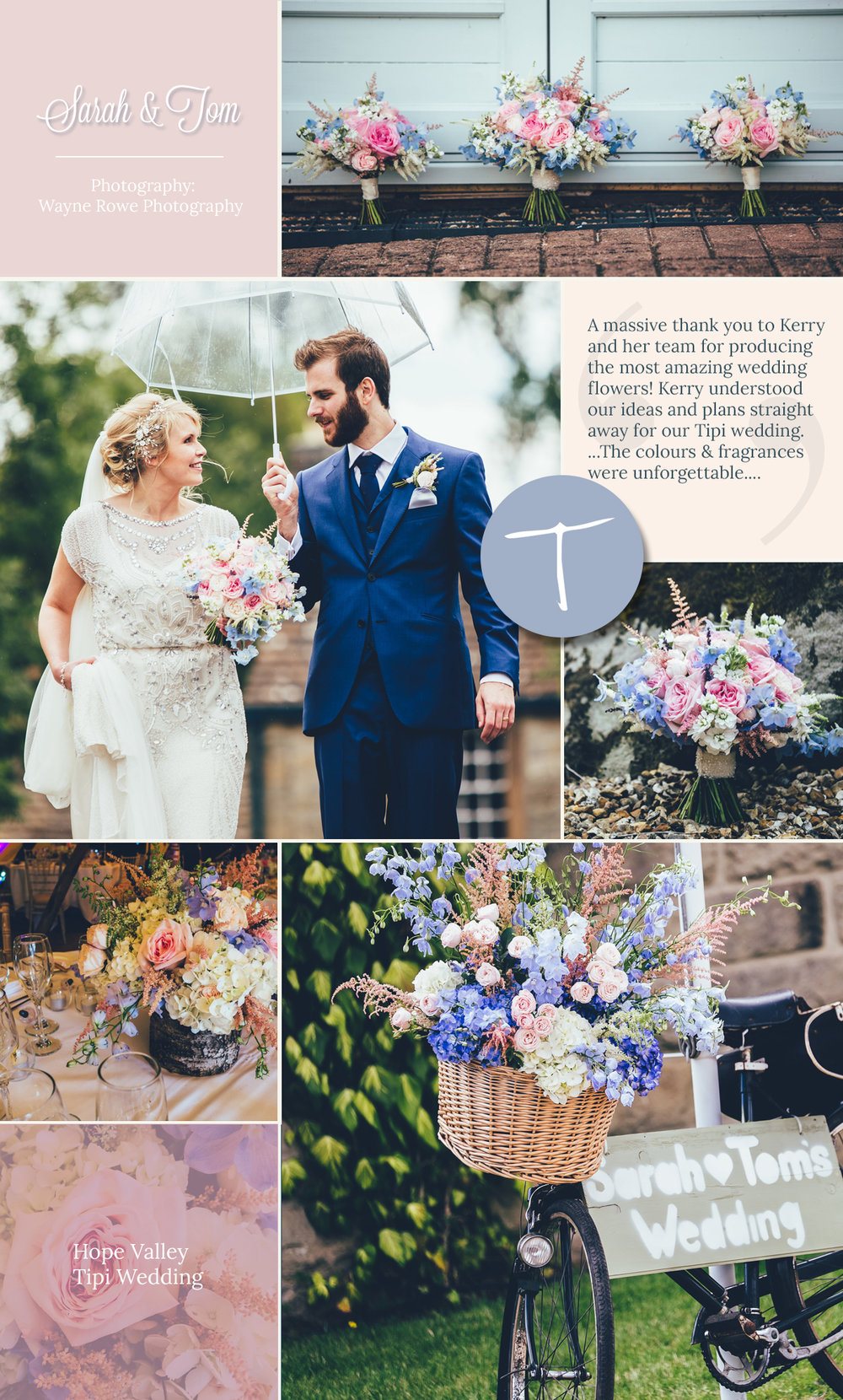 countryside flowers for a Derbyshire tipi wedding by tineke floral design