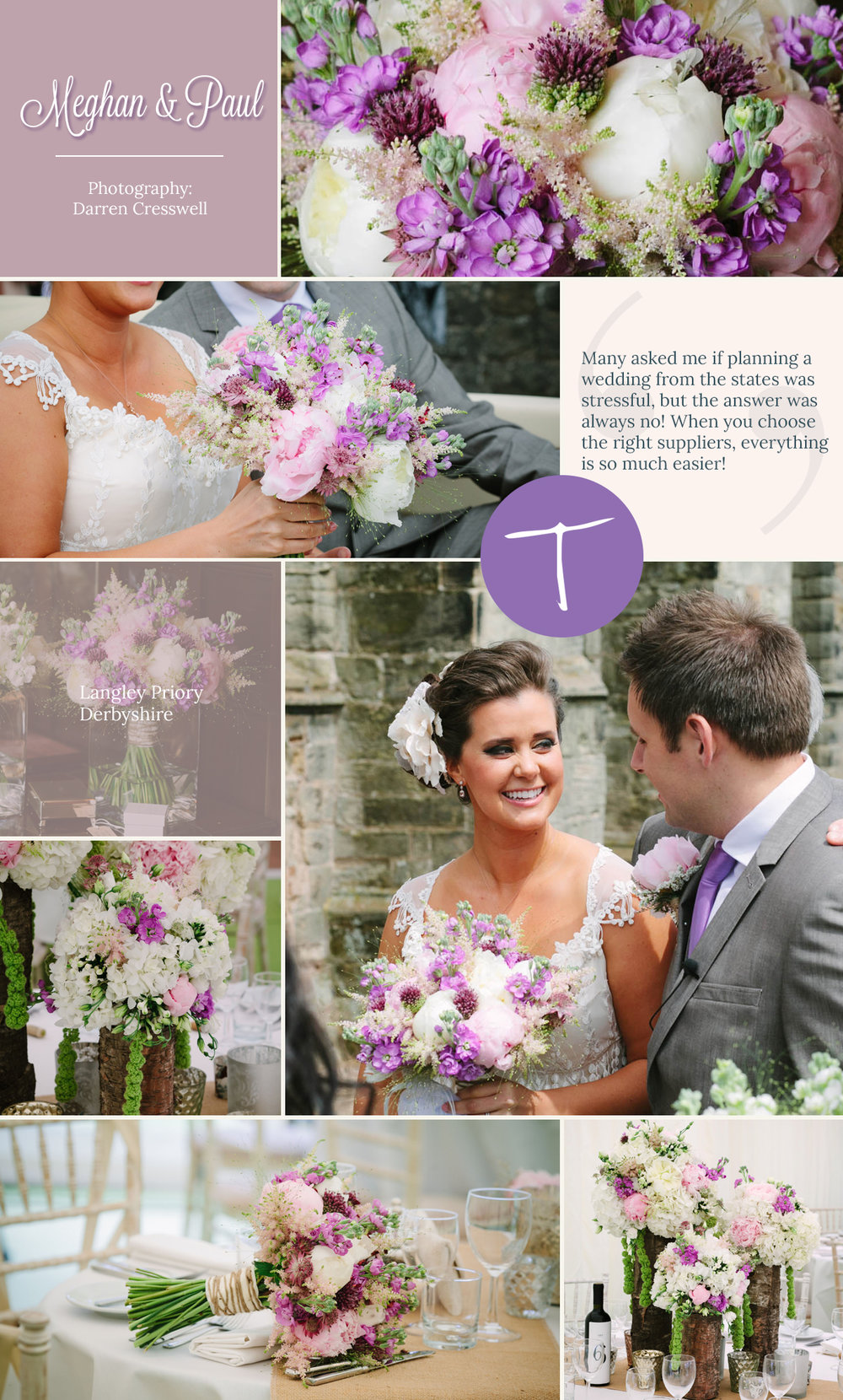A langley priory wedding with floral decoration and styling by Tineke floral designs in Derbyshire
