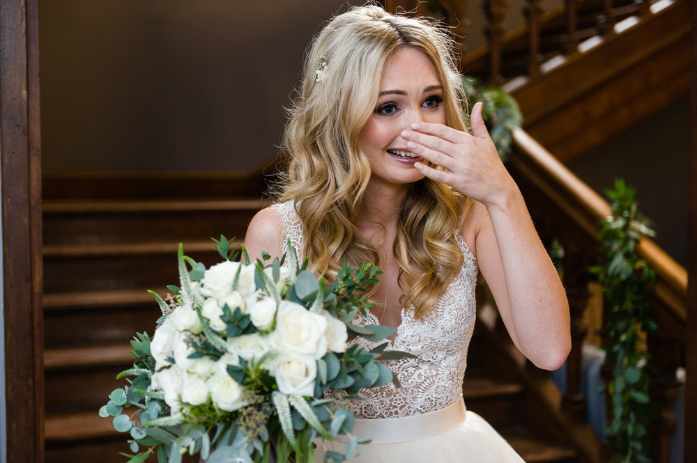 Emotional Bride before the wedding!