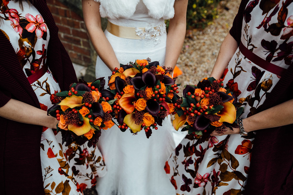 Seasonal bridal and bridesmaid bouquets by Tineke to Go