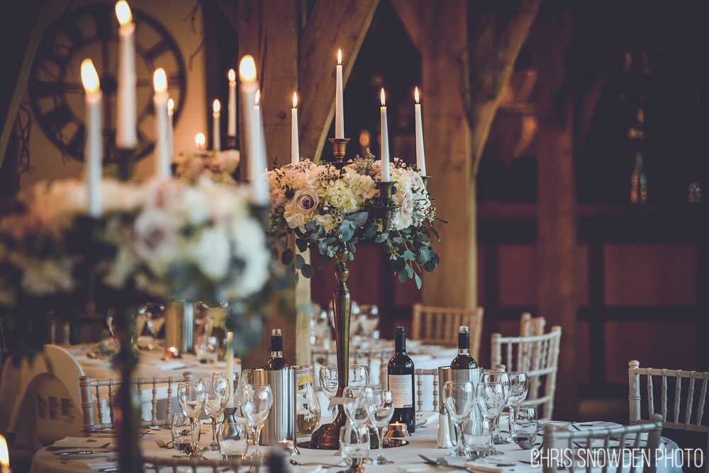 Swancar Farm Winter Wedding with floral candelabras
