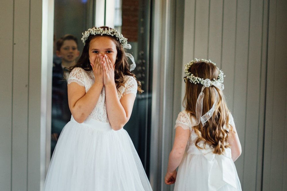 Flower crowns for bridesmaids at West Mill Darley Abbey