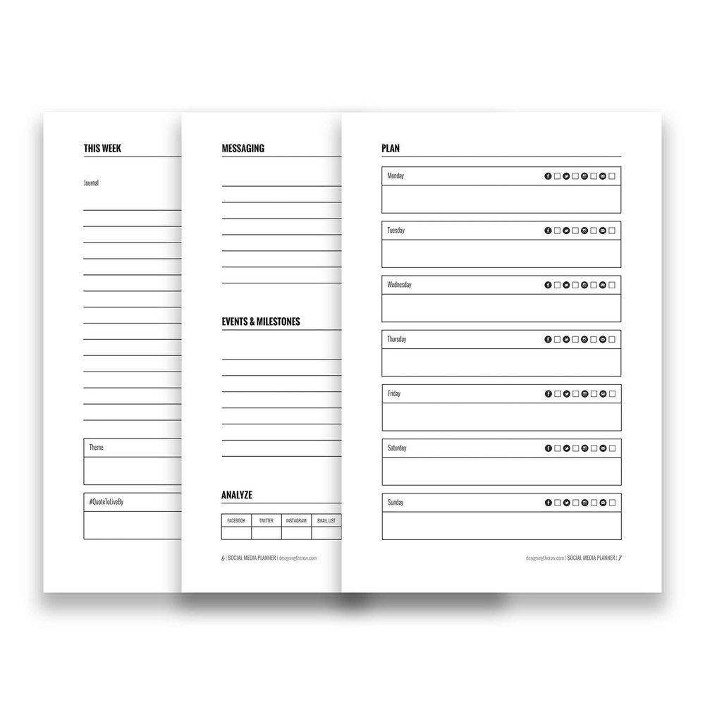 Social Media Planner Digital Download