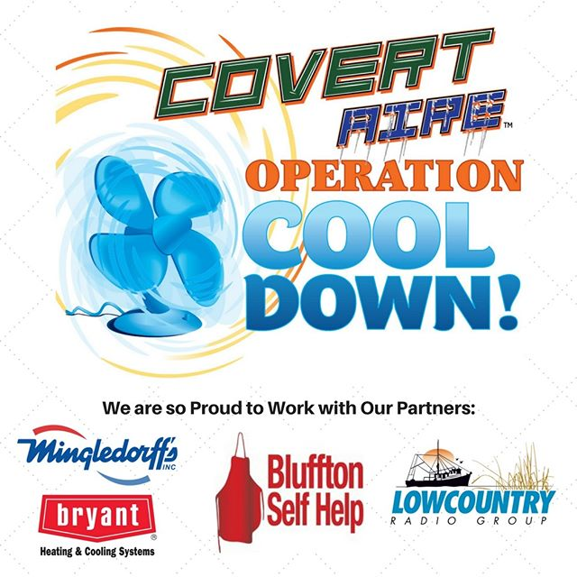 Today is the last day to nominate a family or individual for Operation Cool Down. Visit CovertAire.com/contact  Thank you to our partners Bluffton Self Help, Lowcountry Radio Group, Mingledorff's, Bryant Home Comfort  #HVAC #hvacprofessonial #hvacpro #ilovemyjob #professional #technician #HVAClife  #localbusiness #shoplocal #shopsmall #quality #airconditioning #residential #homeowner #hiltonhead #bluffton #savannah #lowcountry #lowcountrystrong #covertcommunity #covertcares #bryanthomecomfort #awardwinner