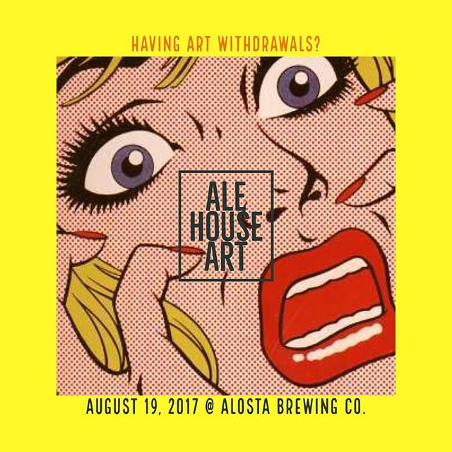 Tonight, @alostabrewingco at 6pm. Be there!!! #beer #art