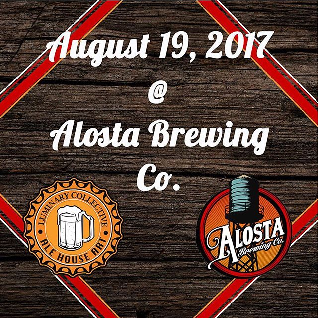ITS. GOING. DOWN. Luminary Collective presents the 4th installment of Ale House Art Show, August 19th at @alostabrewingco. We have an amazing lineup of artists, including live podcast with @crossbonespodcast and a @lookaliveclothingco booth. Mark your calendars for another night of art, beer and good time