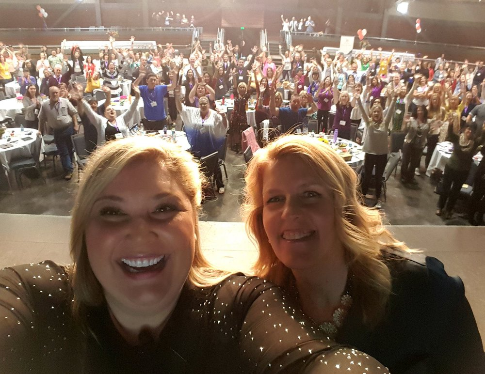 keynote, retreats and experiential presentations [Picture jen mavros & gina truman at the call to action conference]