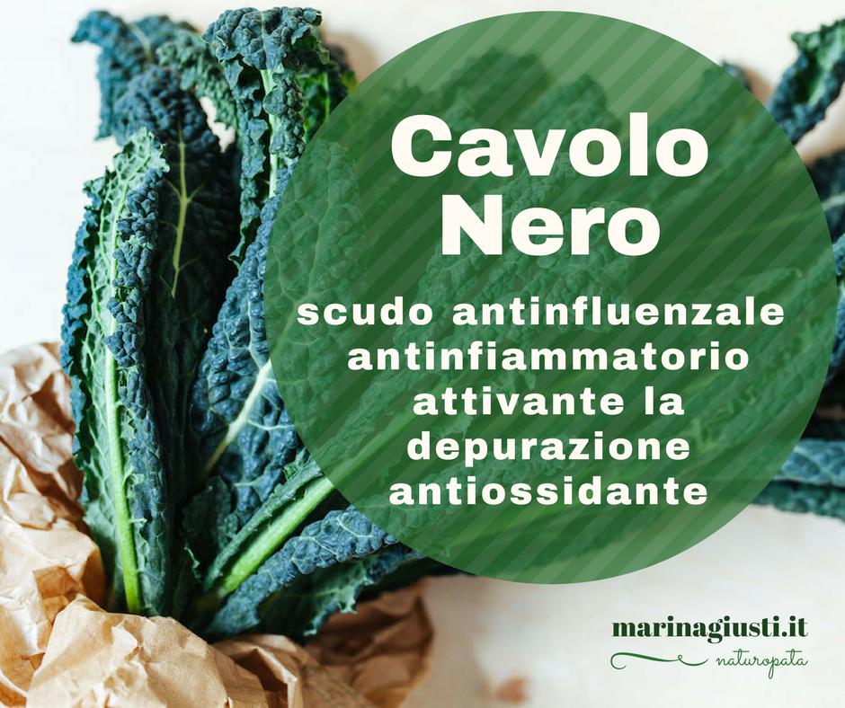 Cavolo Nero: antinfluenzale, antinfiammatorio, in grado di attivare i processi depurativi, ricco in sostanze antiossidanti. Ricette qui!