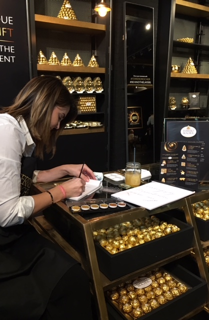 Personalising boxes for Ferrero at Westfield, London