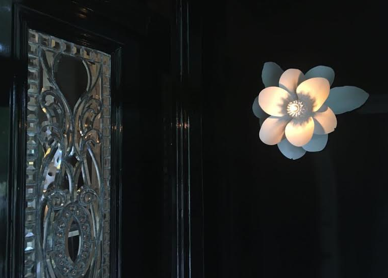 Flower Sconce in Shaun Smith's Foyer Design