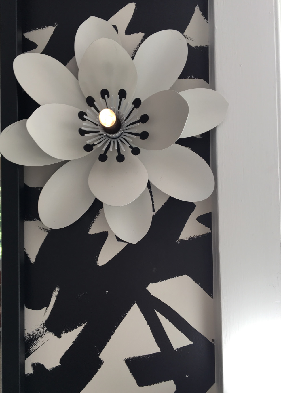 Fantasy Flower Sconce in Laura Burleson's Bathroom Design