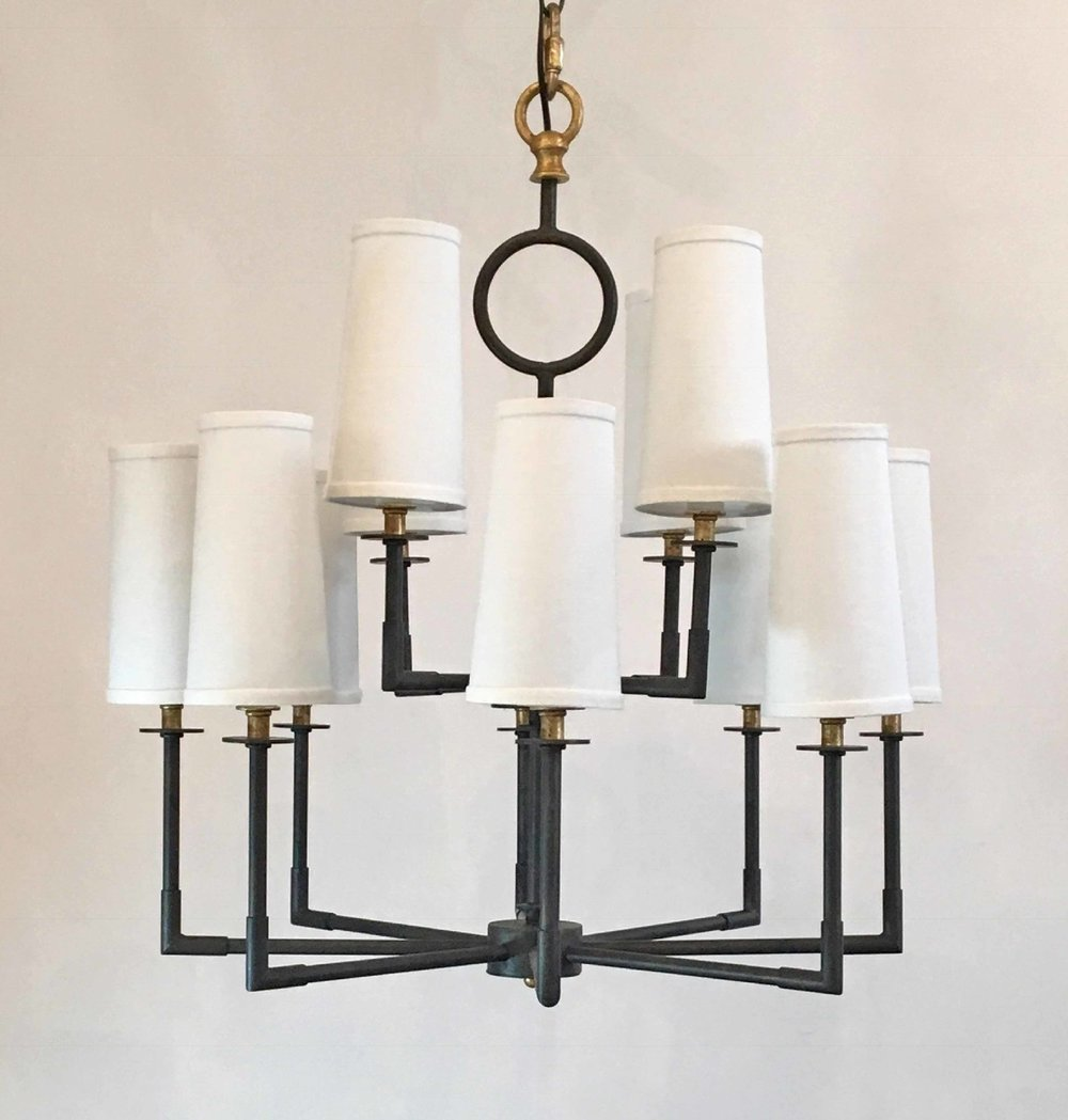 Kristen 2-Tier Chandelier with Shades *