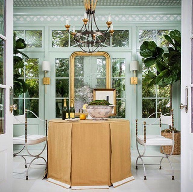 Looking forward to a fun St. Pat's Day and thinking of this wonderful  Room by @annewagonerinteriors with its many shades of gorgeous green!  #customEvachandelier  #fabulousrooms #gogreenorgohome #weloveannewagonner 💚☘️💚☘️