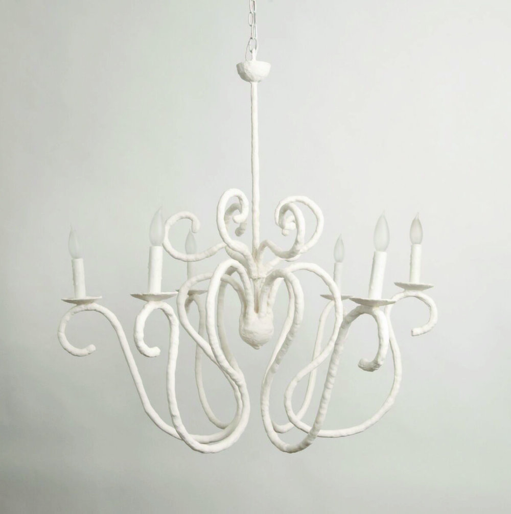 Plastered Chandelier