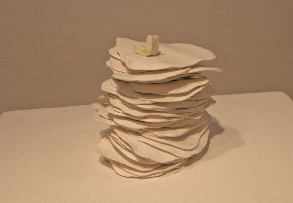 Dry Stack.  air dry clay, foam rubber, gesso, pine and plywood