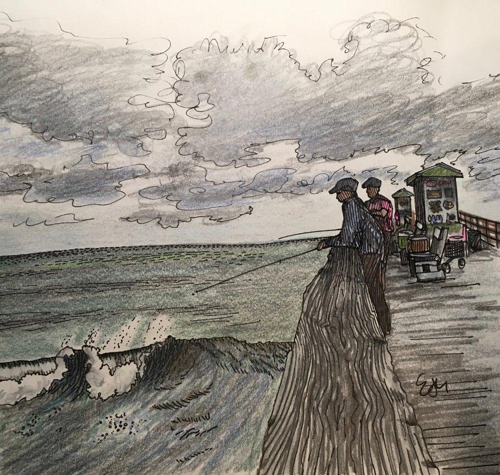Vignette of Bogue Inlet Fishing Pier