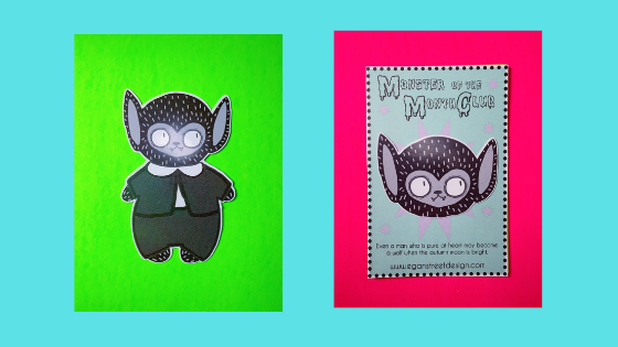 Chubby baby Eddie Munster stickers are ready for adoption.