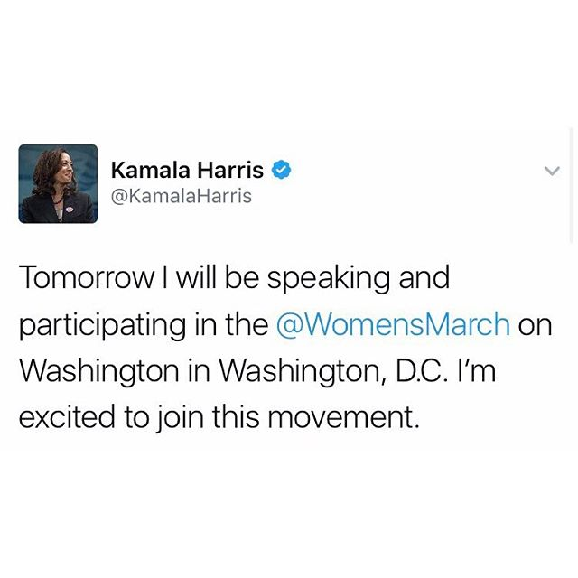 We're so excited for @kamalaharris to join us at the #WomensMarch on Washington!