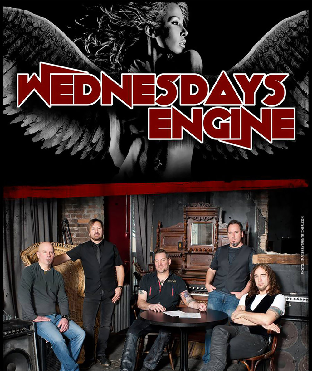 "Wednesday's Engine is a 5-piece pop, rock and dance band with a great  set list and a unique and refreshing take on popular covers. With an  ensemble of accomplished singers and musicians, WE combines edge and  diversity with massive hit songs to create a set list that is both  familiar and unpredictable, and they somehow manage to make Rihanna,  Nine Inch Nails and Justin Timberlake sound like they should be played  one right after the other. An innovative band with a repertoire that is  always changing, WE will keep you on the dance floor all night saying  ""Wow! I love this song too!""."