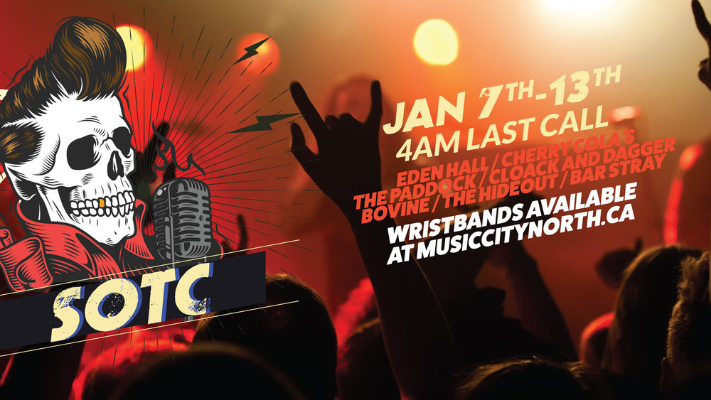 SOTC - Soundtrack of the City is a mini festival hosted by Music City North in a key areas of Toronto's music scene.  FULL FESTIVAL EVENT:  https://www.facebook.com/SoundtrackOfTheCity   Get your wristbands now for a reduced rate and be part of the community!