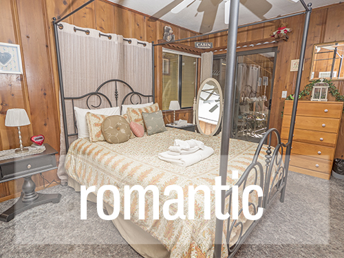 Click Here for Romantic Cabins and Condos