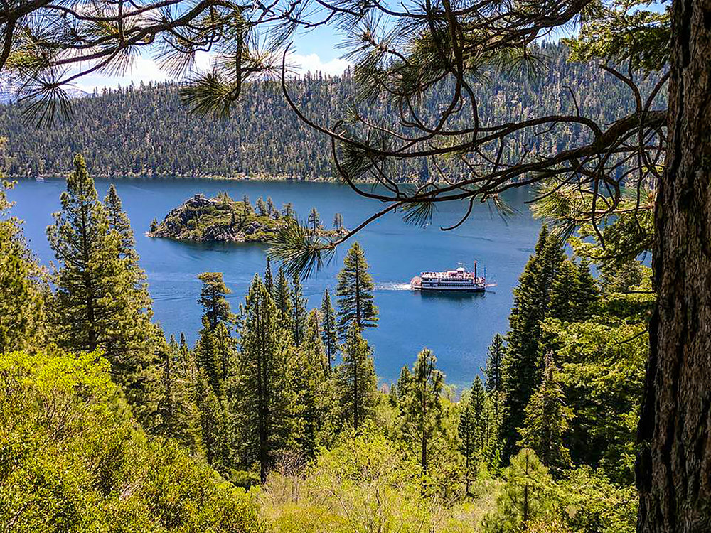 Cruising emerald Bay