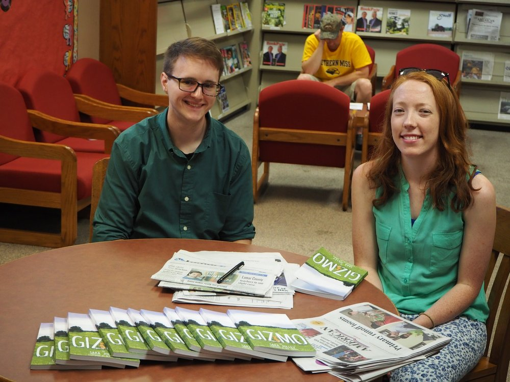 This photo was taken at our book reading/signing at Oak Grove Public Library in June.