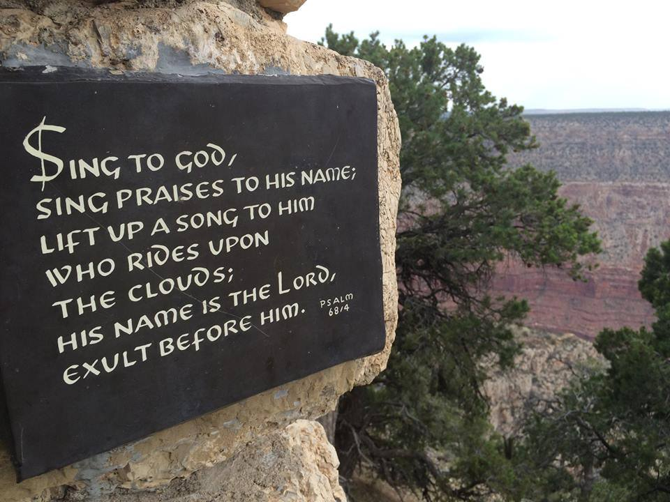 grand canyon sign psalm 68-4