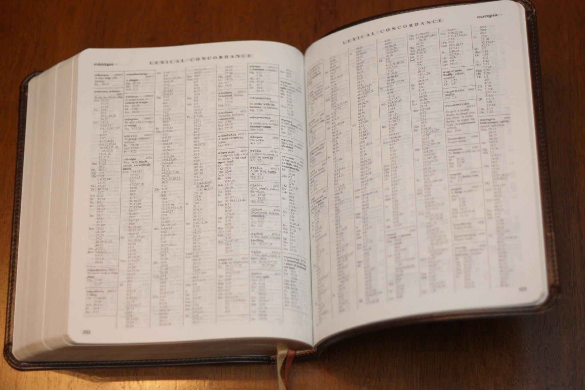 Apostolic Bible Polyglot: Concordance