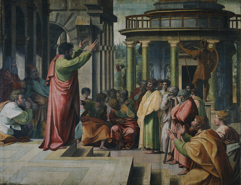 Raphael: St. Paul Preaching in Athens (1515)