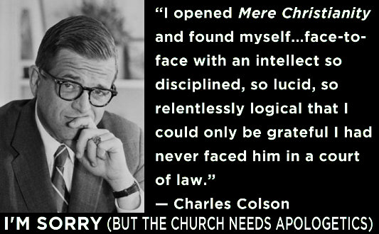 """I opened Mere Christianity and found myself . . . face-to-face with an intellect so disciplined, so lucid, so relentlessly logical that I could only be grateful I had never faced him in a court of law."" —Charles Colson"