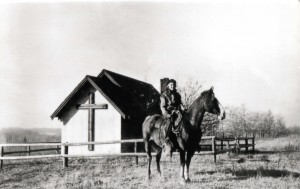 "Monica Storrs, ""God's Galloping Girl"" (Courtesy of the Fort St. John North Peace Museum)"