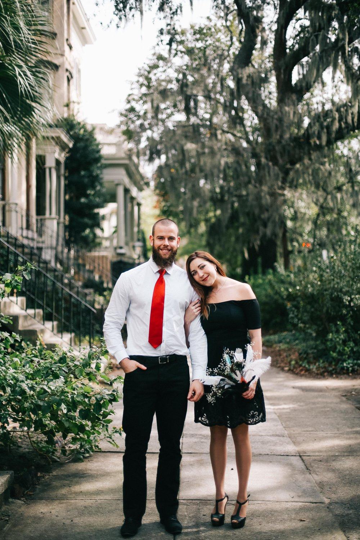 Anna and Yoann's Elopement in Downtown Savannah