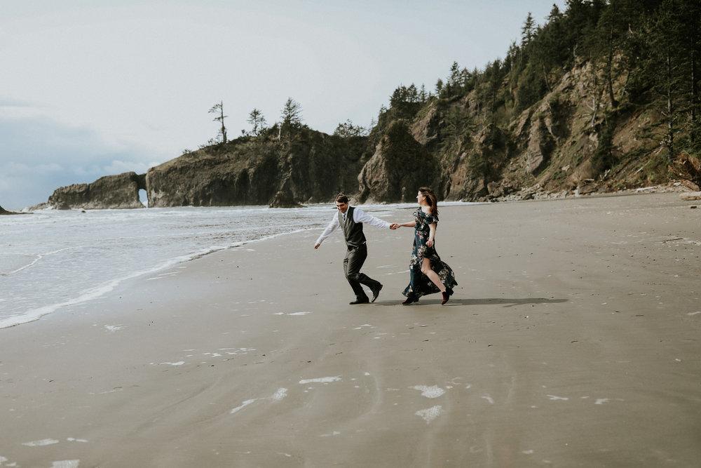 Chelsea and Aaron on La Push Beach