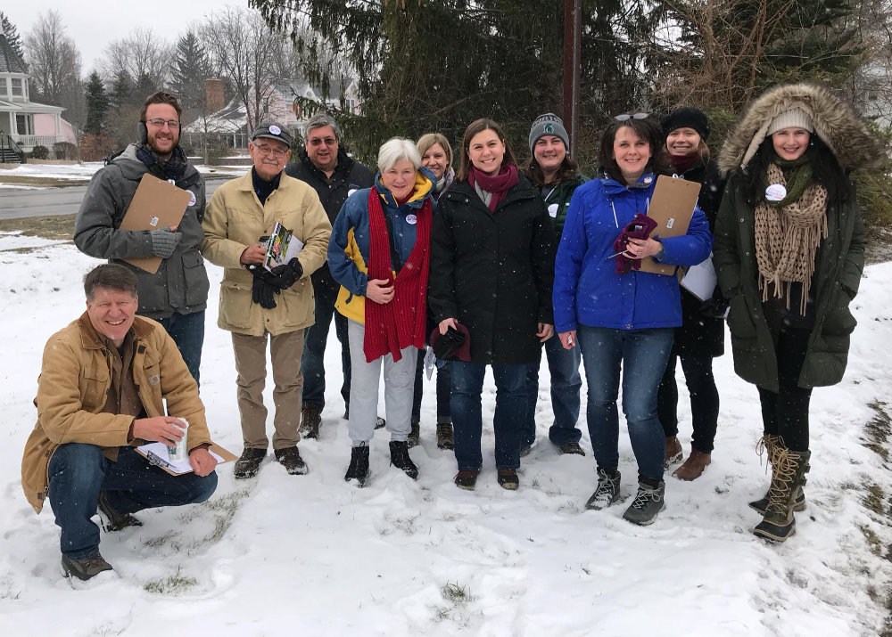 "Elissa's campaign launched their ""snowboots on the ground"" effort to mobilize their field program early to speak with as many voters in the district as possible."