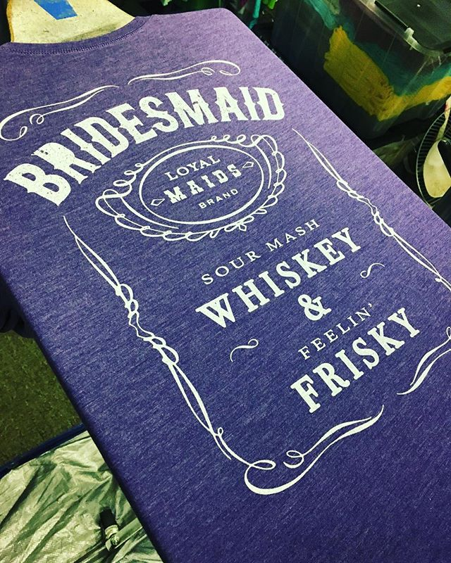 New Bride and Brides Maid designs now available in the Etsy shop! #weddingplanning #weddingdress #weddingparty #honeymoon #bacheloretteparty #bacheloretteweekend #bachelorette #bride #bridesmaids #bridesmaid #jackdaniels #whiskey #frisky #loyal #lasvegas #vegas #engaged #engagementparty #weddingplanner #screenprinting #shopsmall #etsy #etsyshop #etsyseller #weddingphotography  #theknot #weddinginspiration #weddings #weddingfashion #bridalshower