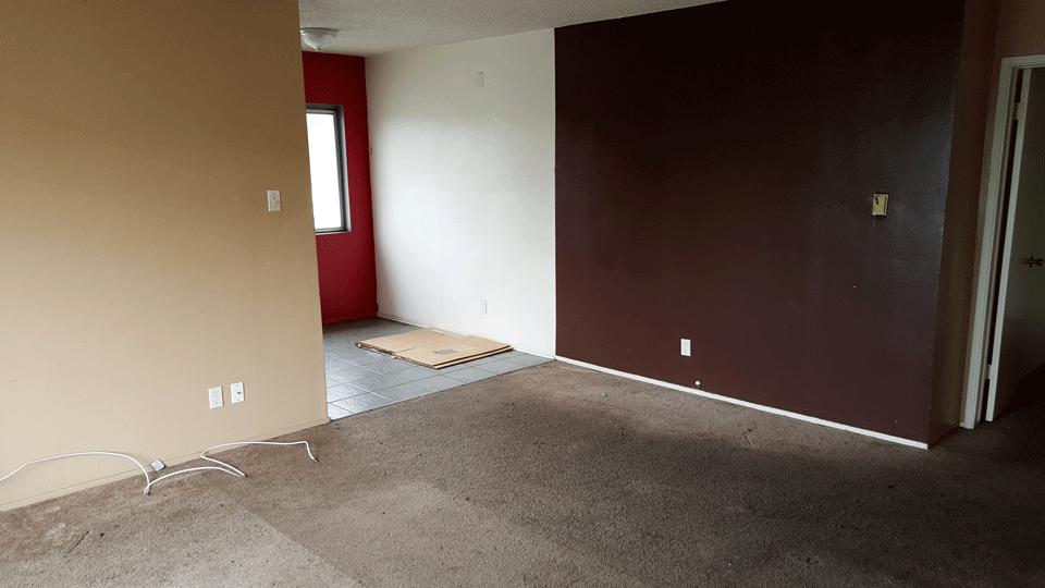 Mid-Renovation Living Room