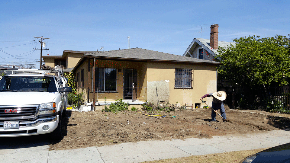 Mid-Renovation Landscaping