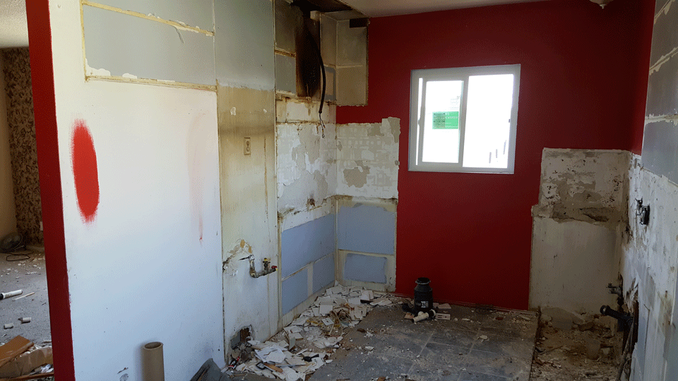 Mid-Renovation Kitchen