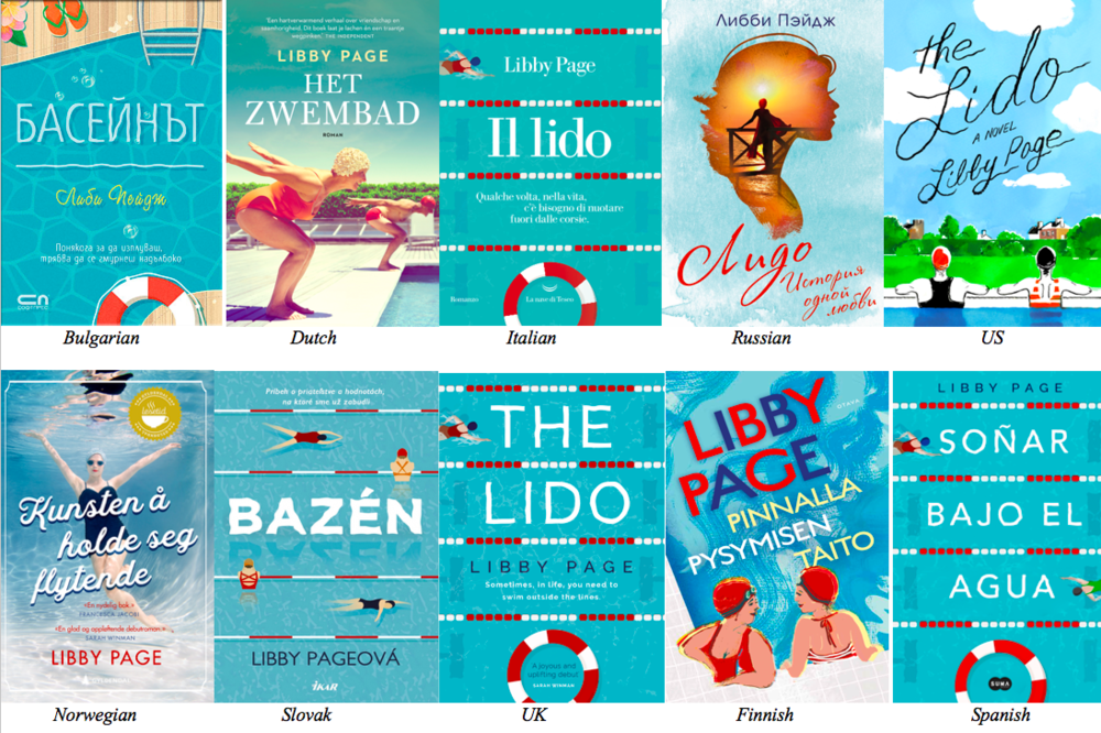 Different covers of  The Lido  to be released across the world this year.