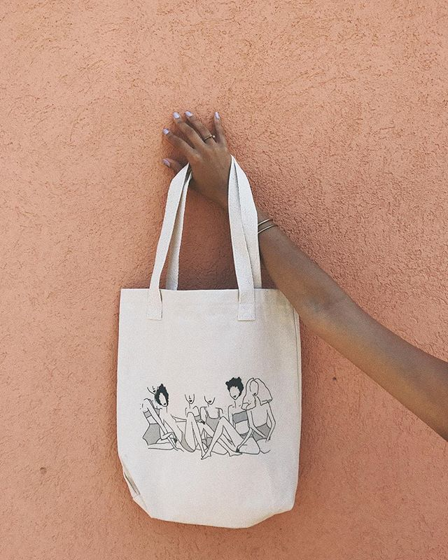 looking for the perfect tote-bag to complement your summer wardrobe? here she is. 😻 the #blackgirlmagic tote is beloved by so many members of our community. join in on the magic + shop the tote in our online shop. 🌱 #VSCO #ivoryandashlife