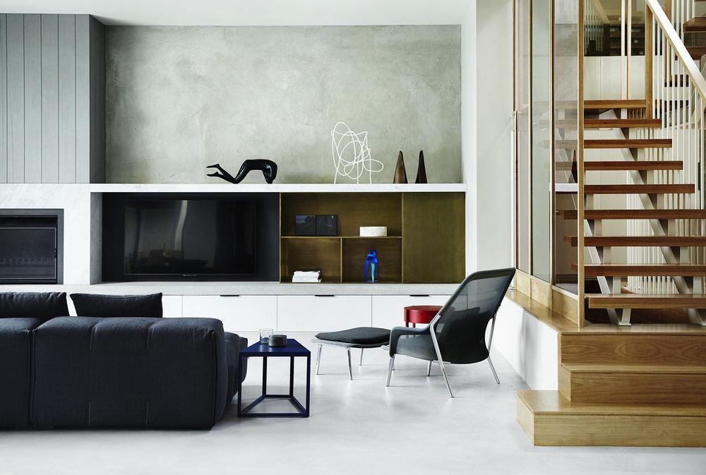 Light Grey Floor & Grey/White Walls