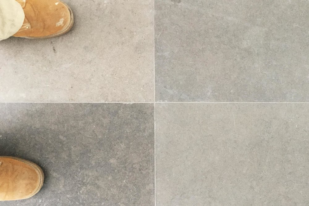 Existing travertine tile floors needed an upgrade