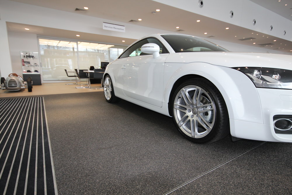 audi dealership quartz carpet