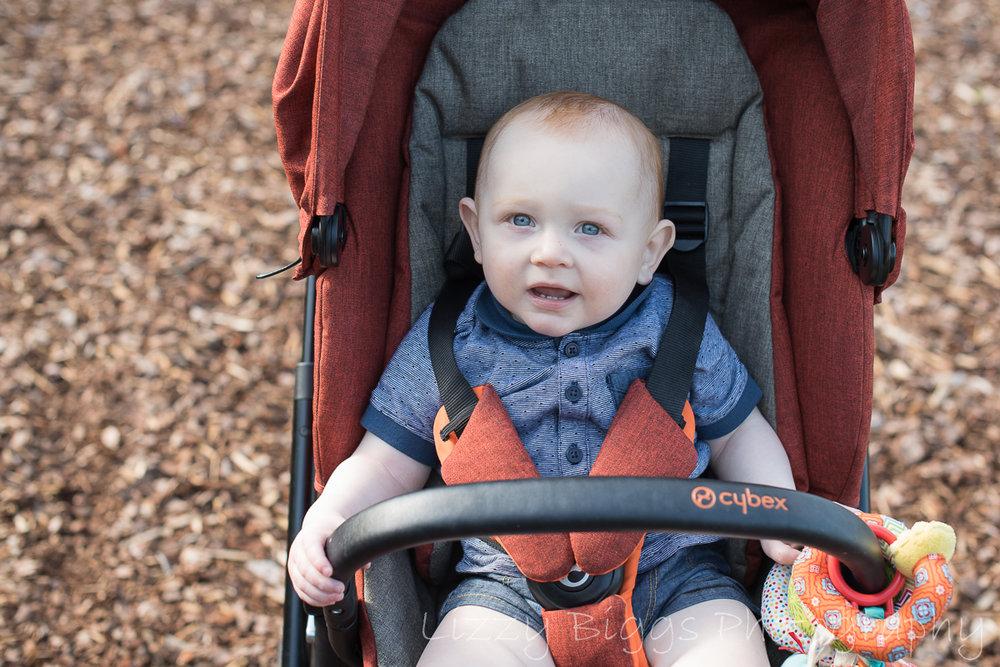 Baby in cybex pram